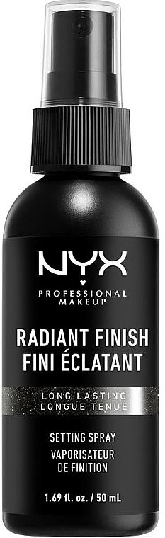 Spray fixateur de maquillage - NYX Professional Makeup Radiant Finish Setting Spray Long Lasting