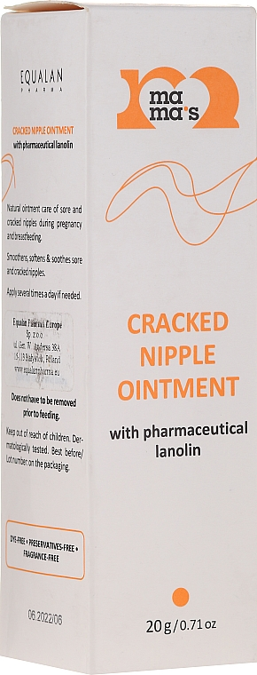 Pommade apaisante à la lanoline pour mamelons - Mama's Cracked Nipple Ointment With Pharmaceutical Grade Lanolin