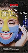 Parfums et Produits cosmétiques Masque scintillant à bulles pour visage,jaune-violet - Purederm Galaxy 2X Bubble Sparkling Multi Mask