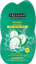 Parfums et Produits cosmétiques Masque-gel peel-off au concombre pour visage - Freeman Feeling Beautiful Facial Peel-Off Mask Cucumber (mini)
