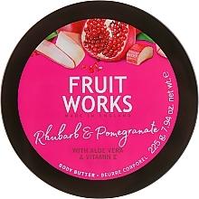 Parfums et Produits cosmétiques Beurre pour corps, Rhubarbe et Grenade - Grace Cole Fruit Works Body Butter Rhubarb & Pomegranate