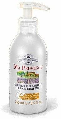 Savon liquide de Marseille à la fleur d'oranger - Ma Provence Liquid Marseille Soap Orange — Photo N1