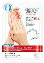 Parfums et Produits cosmétiques Masque-compresse à l'extrait de beurre de karité et miel pour mains - Dermo Pharma Skin Repair Expert S.O.S. Regeneration & Moisturizing Hand Mask