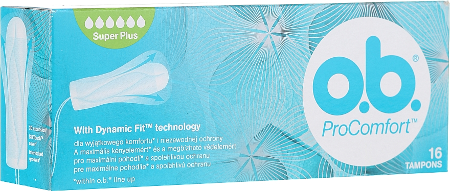 Tampons, 16 pcs - o.b. Pro Comfort Super Plus