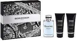 Parfums et Produits cosmétiques Boucheron Quatre Boucheron Pour Homme - Coffret cadeau (eau de toilette/100ml + baume après-rasage/100ml + gel douche/100ml)