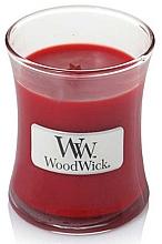 Parfums et Produits cosmétiques Bougie parfumée en jarre avec mèche en bois, Grenade - WoodWick Hourglass Candle Pomegranate