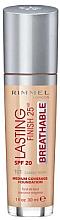Parfums et Produits cosmétiques Fond de teint - Rimmel Lasting Finish 25HR Breathable Foundation SPF 20