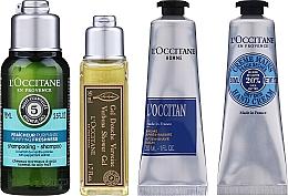 Parfums et Produits cosmétiques L'Occitane Men Selection - Set (gel douche/50ml + baume après-rasage/30ml + crème mains/30ml + shampooing/75ml + trousse de toilette)