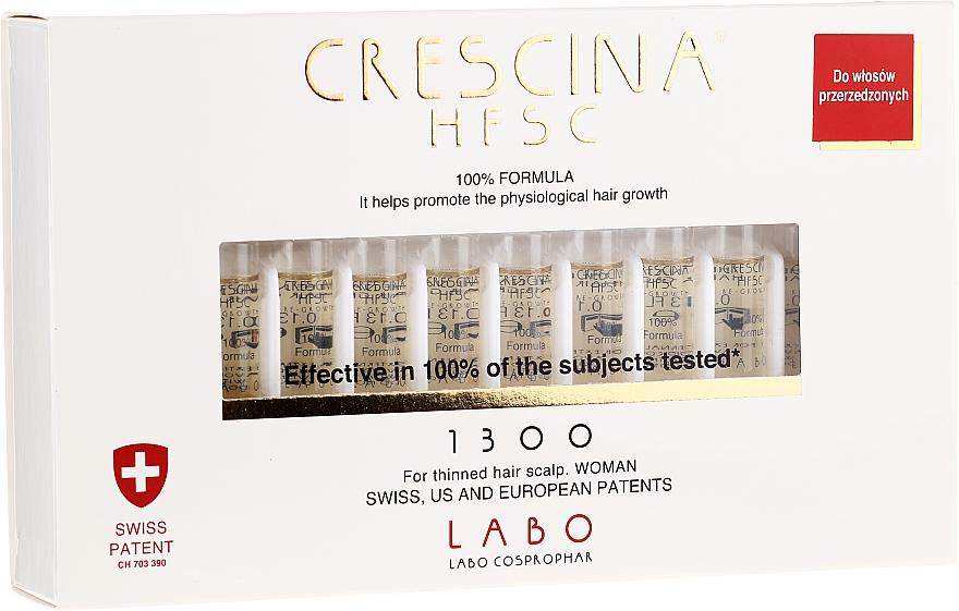 Ampoules stimulantes la croissance des cheveux - Labo Crescina HFSC Re-Growth 1300