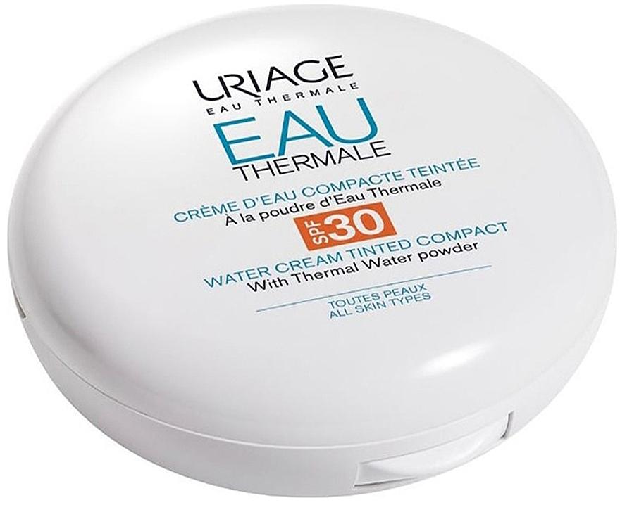 Crème d'eau compacte teintée à la poudre d'eau thermale pour visage - Uriage Eau Thermale Water Tinted Cream Compact SPF30 — Photo N2