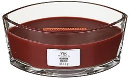 Parfums et Produits cosmétiques Bougie parfumée en jarre avec mèche en bois, Séquoia - Woodwick Hearthwick Flame Ellipse Candle Redwood