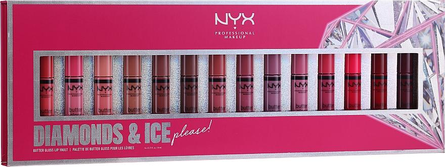 Set (gloss à lèvres/14x8ml) - NYX Professional Makeup Diamonds & Ise