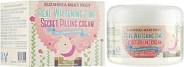 Parfums et Produits cosmétiques Crème exfoliante à l'huile de macadamia pour visage - Elizavecca Face Care Milky Piggy Real Whitening Time Secret Pilling Cream