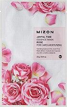 Parfums et Produits cosmétiques Masque tissu à la rose pour visage - Mizon Joyful Time Essence Mask Rose