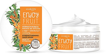 Masque à l'huile d'argousier pour cheveux - Marion Enjoy Fruit Strengthening Hair Mask
