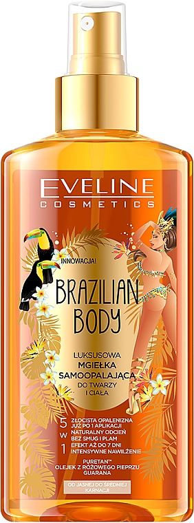 Brume autobronzante pour visage et corps - Eveline Cosmetics Brazilian Mist Face & Body