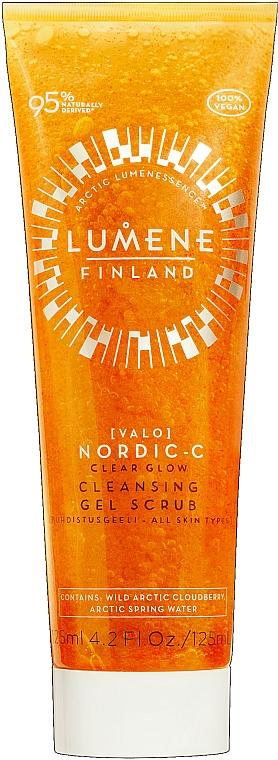 Gel exfoliant à la vitamine C pour visage - Lumene Valo Nordic-C Clear Glow Cleansing Gel Scrub