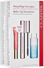 Parfums et Produits cosmétiques Coffret cadeau - Clarins Wonder Perfect Mascara 4D Set (mascara/8ml + makeup/remover/50ml + lip/gloss/12ml)