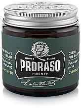 Parfums et Produits cosmétiques Crème avant-rasage, Cyprès et Vétiver - Proraso Cypress & Vetyver Pre-Shaving Cream