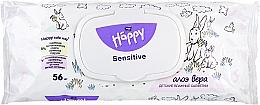 Parfums et Produits cosmétiques Lingettes nettoyantes à l'aloès - Bella Baby Happy Sensitive & Aloe Vera