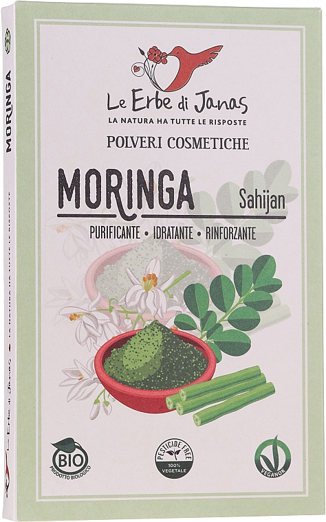 Poudre naturelle pour cheveux, Moringue - Le Erbe di Janas Moringa — Photo N1