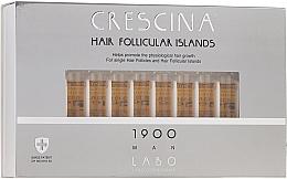 Parfums et Produits cosmétiques Traitement en ampoules à l'acide lactique pour cheveux 1900 - Crescina Hair Follicular Islands Re-Growth 1900