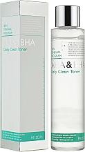 Parfums et Produits cosmétiques Lotion tonique aux acides AHA et BHA - Mizon AHA & BHA Daily Clean Toner