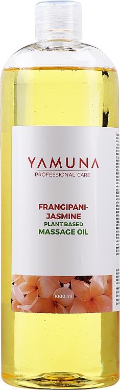 Huile de massage à l'extrait de plantes, Jasmin et Frangipanier - Yamuna Frangipani-Jasmine Plant Based Massage Oil