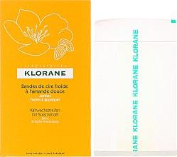 Parfums et Produits cosmétiques Bandes de cire froide à l`amande douce pour les jambes - Klorane Cold Wax Strips
