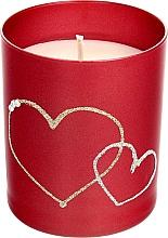 Parfums et Produits cosmétiques Bougie décorative rouge, 8x9,5 cm - Artman Forever Glass