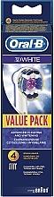 Parfums et Produits cosmétiques Têtes de remplacement pour brosse à dents électrique, 4 pcs. - Oral-B 3D White EB18