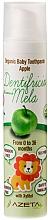 Parfums et Produits cosmétiques Dentifrice bio pour enfants, Pomme - Azeta Bio Organic Baby Toothpaste Apple
