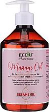 Parfums et Produits cosmétiques Huile de massage à l'huile de sésame - Eco U Massage Oil Sesame Oil