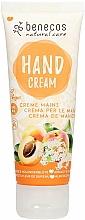 Parfums et Produits cosmétiques Crème pour mains, Abricot et sureau - Benecos Natural Care Apricot & Elderflower Hand And Nail Cream