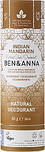 Parfums et Produits cosmétiques Déodorant naturel au bicarbonate de soude Mandarine indienne (tube en carton) - Ben & Anna Natural Soda Deodorant Paper Tube Indian Mandarine