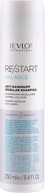 Shampooing micellaire antipelliculaire - Revlon Professional Restart Balance Anti-Dandruff Micellar Shampoo — Photo N1