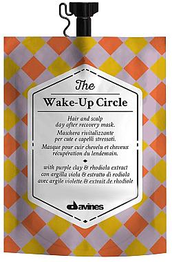 Masque à l'argile violette et extrait de rhodiole pour cheveux - Davines Wake-Up Circle Hair Mask — Photo N1
