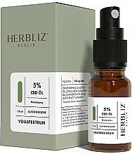 Parfums et Produits cosmétiques Spray buccal à l'huile de CBD 5%, Olive - Herbliz CBD Olive Fresh Oil Mouth Spray 5%