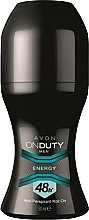 Parfums et Produits cosmétiques Anti-transpirant roll-on - Avon On Duty Men Energy Antiperspirant Roll-On