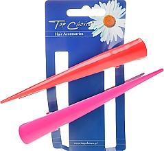 Parfums et Produits cosmétiques Barrettes à cheveux, 25136, rose et rouge - Top Choice