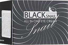 Parfums et Produits cosmétiques Crème à la mucine d'escargot noir pour contour des yeux - FarmStay All-In-One Black Snail Eye Cream