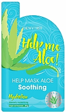 Parfums et Produits cosmétiques Masque tissu à l'aloe vera pour visage - Dewytree Help Me Aloe! Soothing Mask