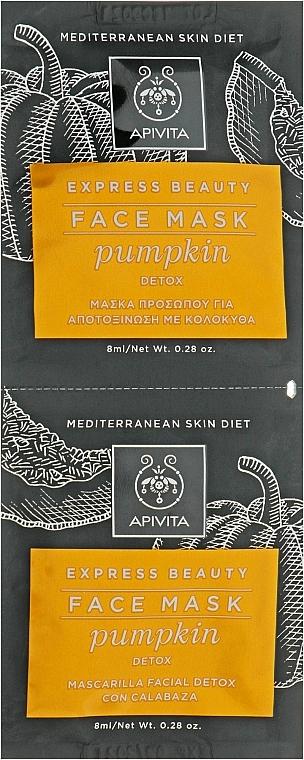 Masque à la citrouille pour visage - Apivita Pumpkin Detox Mask