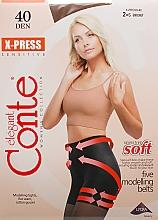 Parfums et Produits cosmétiques Collant pour femme, X-press, 40 Den, bronz - Conte
