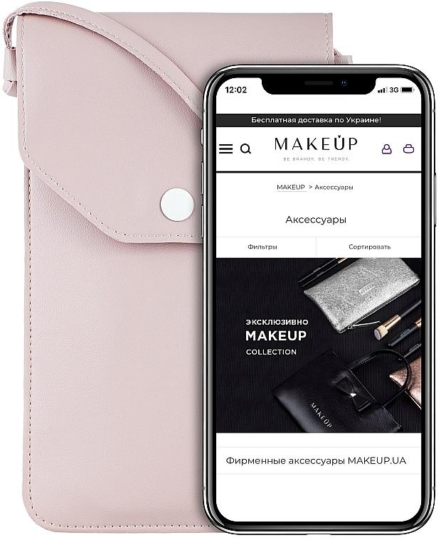 Étui pour téléphone, rose poudré, Cross - Makeup Phone Case Crossbody Powder