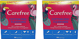 Parfums et Produits cosmétiques Protège-slips, 2x56pcs - Carefree Cotton Feel Flexiform