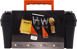 Parfums et Produits cosmétiques Wars - Set(sh/lot/90ml + sh/cr/65ml + ash/balm/100ml + brush)
