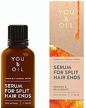 Parfums et Produits cosmétiques Sérum à l'huile d'ambre et eau minérale pour cheveux fendus - You & Oil Amber. Serum For Split Hair Ends