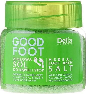 Sels de bain à la menthe sauvage et allantoine pour pieds - Delia Cosmetics Good Foot Herbal Foot Bath Salt