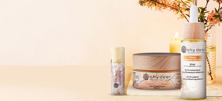 Pour tout achat d'un produit Shy Deer recevez un beurre à lèvres naturel en cadeau